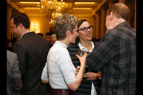 Director of Programming and Aquisitions at Picturehouse Cinemas Claire Binns (2nd R) and guests attend The Big Sundance London Party at the Langham Hotel on June 2, 2016 in London, England.
